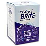 Retainer Brite is a highly effective removable brace cleaner that kills bacteria, preventing brace discoloration and odor that can lead to bad breath. Retainer Brite's special formula for cleaning and disinfecting removable orthodontic appliances. Us...
