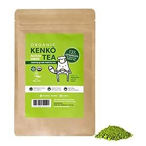 KENKO Matcha Green Tea Powder [USDA Organic] Culinary Grade Matcha Powder for Lattes, Smoothies and Baking - 100g (3.5oz) Bag = 50 Servings