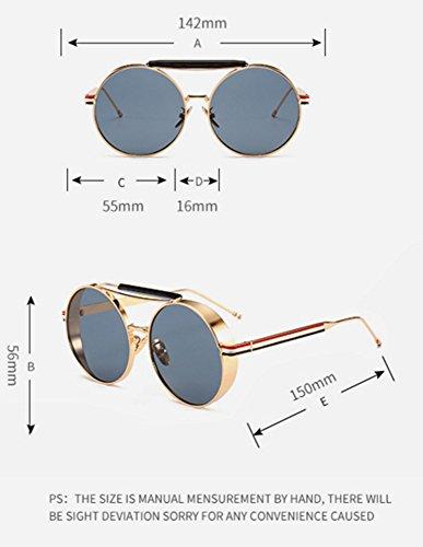 marco redondas de vidrios Plata del sol conducen de del que Steampunk los Gafas vintage Plata clásico Keephen UV400 RwxAqB4XR