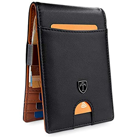 """TRAVANDO ® Slim Wallet with Money Clip""""Rio"""" – 7 Card Slots – RFID Blocking – Perfect Gift for Men – with Gift Box – Designed in Germany 41hcWbpZnsL"""