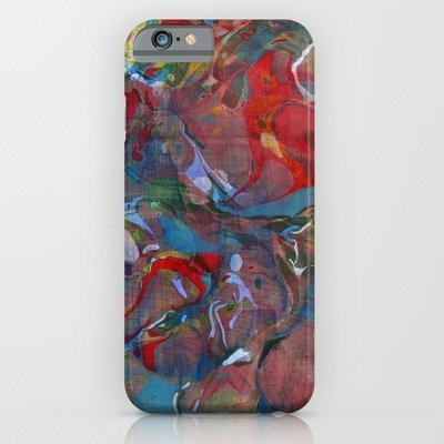 Society6   Abstract Painting   Festival Iphone 6 Case By Bialy Kot