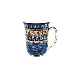 Polish Pottery Mug – 16 oz. Bistro – Aztec Sun