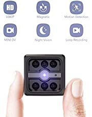 Spy Cameras, CACAGOO Mini Spy Camera 1080P HD Small Hidden Camera for Home Security with Night Vision and Motion Detection, Covert Cameras Hidden for Indoor/Outdoor
