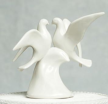 Amazon.com: Doves Porcelain Wedding Cake Topper: Kitchen & Dining