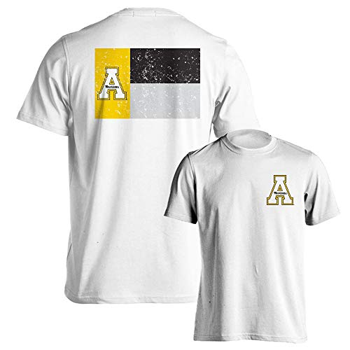 Appalachian State Mountaineers Official North Carolina State Flag Logo Short Sleeve T-Shirt (Best Clothing App For Men)