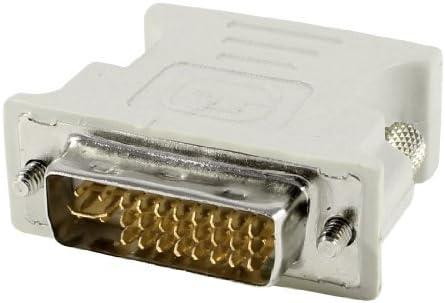 DealMux PC computador DVI-I 24 + 5 pinos macho para VGA de 15 pinos adaptador Feminino gris: Amazon.es: Electrónica