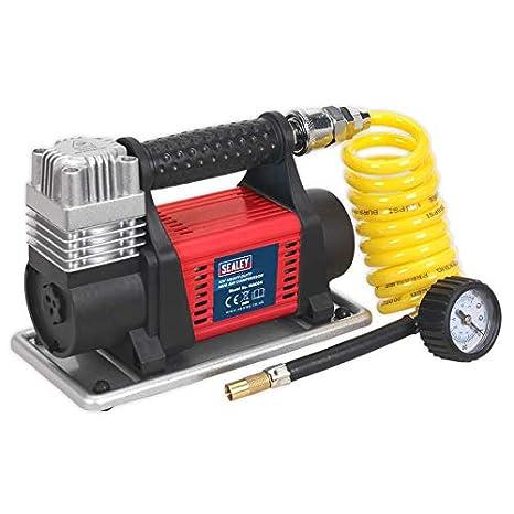 Sealey mac04 Mini compresor de aire, Rojo, Juego de 12 piezas: Amazon.es: Bricolaje y herramientas