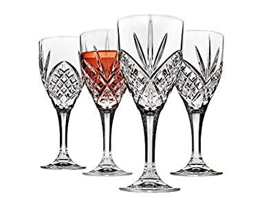Godinger Wine Glasses Goblets, Shatterproof and Reusable Acrylic - Dublin Collection, Set of 4