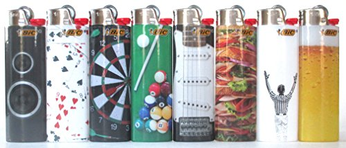 Bic Collectors Choice Series Lighters Lot of 8 by BIC