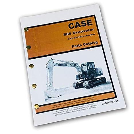 Amazon com: J I Case 688 Crawler Excavator Parts Manual Catalog