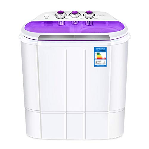 Mini Portable Washing Machine – Small Semi-Automatic Compact Washing Machine with Timer Control for Camping, Apartments, or Student Dorm Room