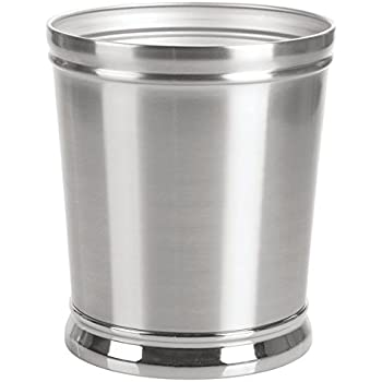 Amazon Com Dwellza Silver Mosaic Bathroom Trash Can 11