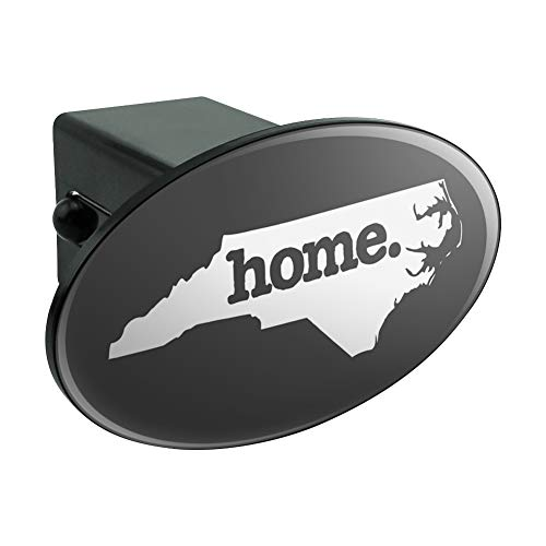 North Carolina NC Home State Solid Dark Gray Grey Officially Licensed Oval Tow Hitch Cover Trailer Plug Insert 2