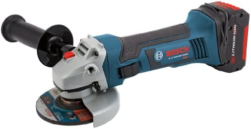 Bosch CAG180-01 18-Volt Lithium-Ion 4-1 2-Inch Lithium-Ion Grinder Kit with 2 Batteries, Charger and Case