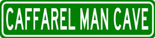 caffarel-man-cave-personalized-last-name-street-sign-heavy-duty-9x36-quality-aluminum-sign