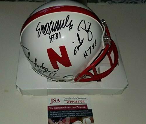 Nebraska Autographed Signed Memorabilia Mini Helmet Heisman Eric Crouch Rodgers Rozier - Certified Authentic