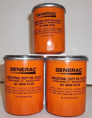 Generac Oil Filter 070185E 3 Pack Extended Life Oil Filter is 30% Longer, 30% More Capacity (Oil Filter 070185e compare prices)