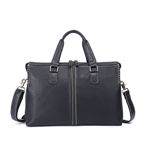 2018 New First Layer Of Leather Retro Briefcase Casual Portable Business Computer Bag Men's - 2018 Sunglasses Trends