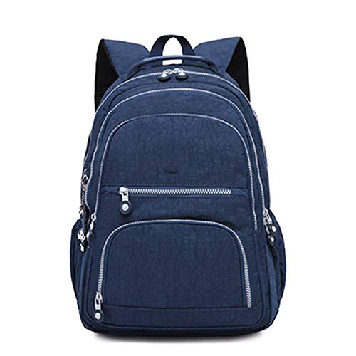 2019 Women dark blue School Backpack for Teenage Girls Female Laptop Backpack Travel Bag
