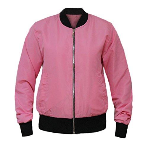 BIKER RETRO SUMMER MA1 GLAM Pink BOMBER ARMY WOMENS JACKET COUTURE VINTAGE FLIGHT Baby LADIES qtqIB8vwT