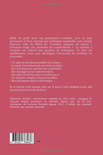 Production orale DELF B2 (French Edition): Stéphane Wattier: 9791022768436: Amazon.com: Books