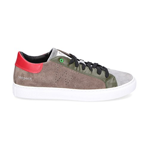 Camoscio Marrone WOMSH Uomo Sneakers S270251 qwTcaB6