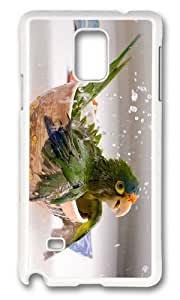 Adorable Bathing Parrot Hard Case Protective Shell Cell Phone For Case HTC One M7 Cover - PC White