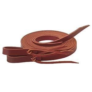 Weaver Leather Latigo Split Reins with Water Tie Ends, Burgundy, 1/2″ x 8′