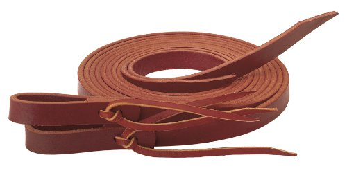 Weaver Leather Latigo Split Rein with Water Tie Ends, 5/8-Inch x 8-Feet, Burgundy (Water Loop Split Reins)