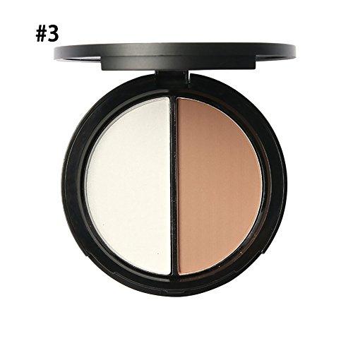 Shouhengda Makeup Blush Bronzer &Highlighter Concealer Bronzer Palette Comestic 2 Diff Color A03 -  SHD-DA0283