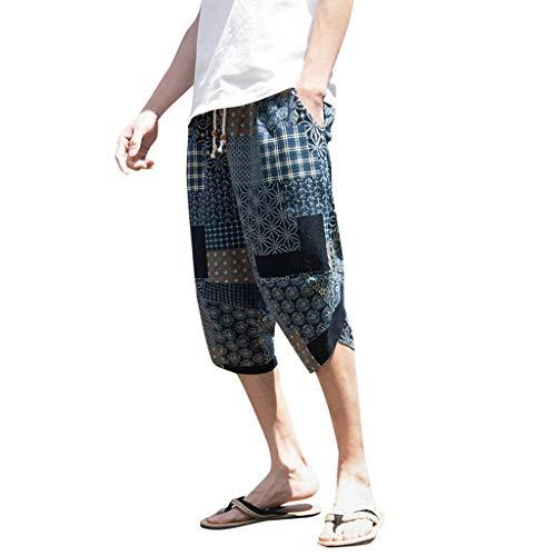 - Donci Cotton Linen Men's Slim-Fit 5 Pocket Corduroy Pant Blue