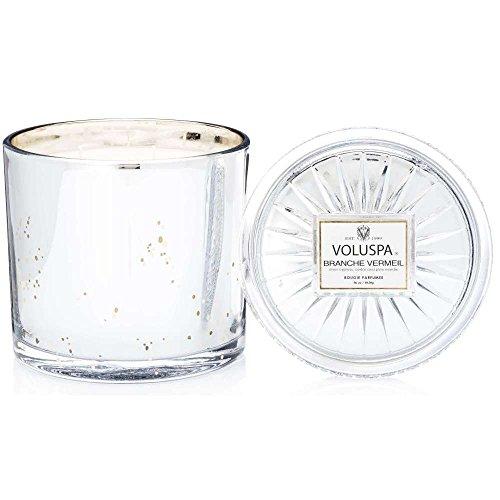 Voluspa Branche Vermeil Grande Maison 3 Wick Glass Candle, 36 Ounces