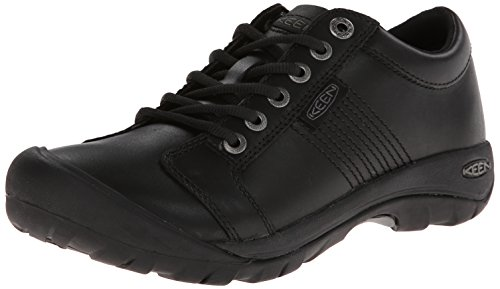 KEEN Men's Austin Shoe,Black Full Grain,11.5 M US