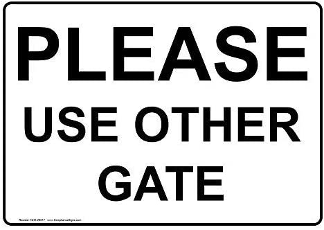 Please Use Other Gate Aluminum Metal Signs Novelty Outdoor Yard Signs Tin Sign Vintage Metal Wall Plauq 12x8 In