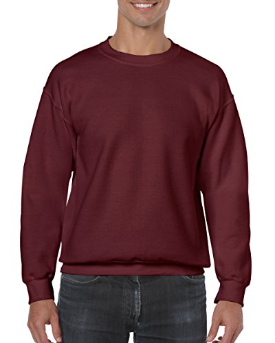 Gildan Men's Heavy Blend Crewneck Sweatshirt - Large - Maroon
