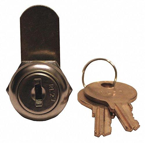 Different-Keyed Standard Keyed Cam Lock, Chrome