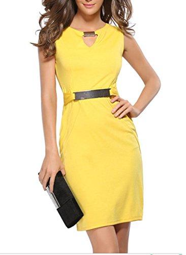 Smile YKK Sommer Herbst Damen Frauen Business Kleid Bodycon Kleid ...
