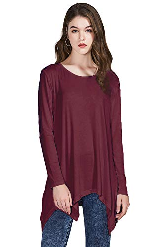 (AIDIER Tank Tops for Women Loose Long Sleeve Tunic Casual Flowy Sleeveless Blouse Shirt)