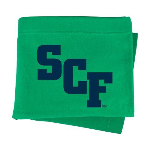 State College of Florida Kelly Green Sweatshirt Blanket 'SCF' -