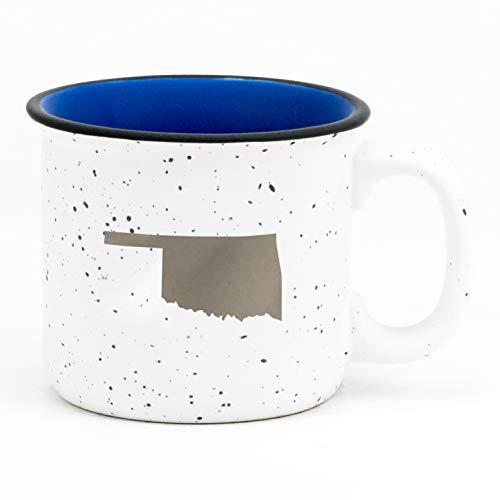 - Oklahoma Silhouette In Silvertone 13.5 oz Ceramic Mug