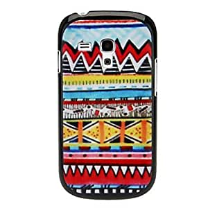 Bkjhkjy Colorful W Lines Pattern Hard Case for Samsung Galaxy I8190