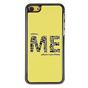 The Formation of ME Pattern PC Hard Case with 3 Packed HD Screen Protectors for iPhone 5C