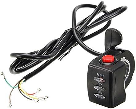 Alamor 24V / 36V / 48V Batería Led Indicador Pulgar Luz Del Acelerador Eléctrica Scooter E-Bike Switch-48V