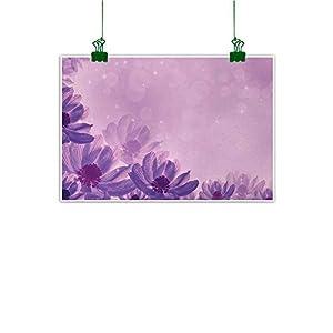 Unpremoon Anemone Flower Canvas Prints Artwork Dreamlike Fantastic Composition with Anemone Magic Petals Blossoms Canvas Painting Wall Art Magenta Lavender 61