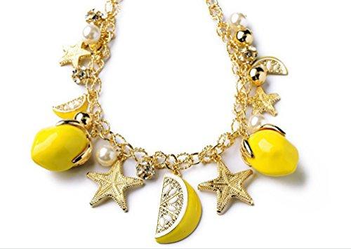 Superhai Starfish Pendant Bracelet Lemon Fruit -