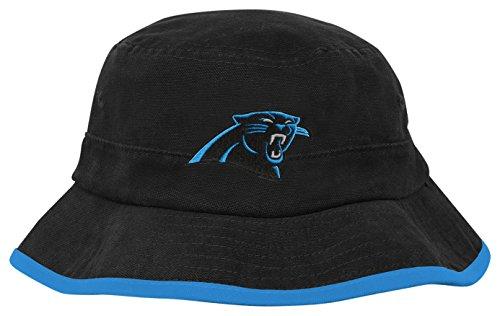 OuterStuff NFL Toddler Team Bucket Hat-Black-1 Size, Carolina Panthers