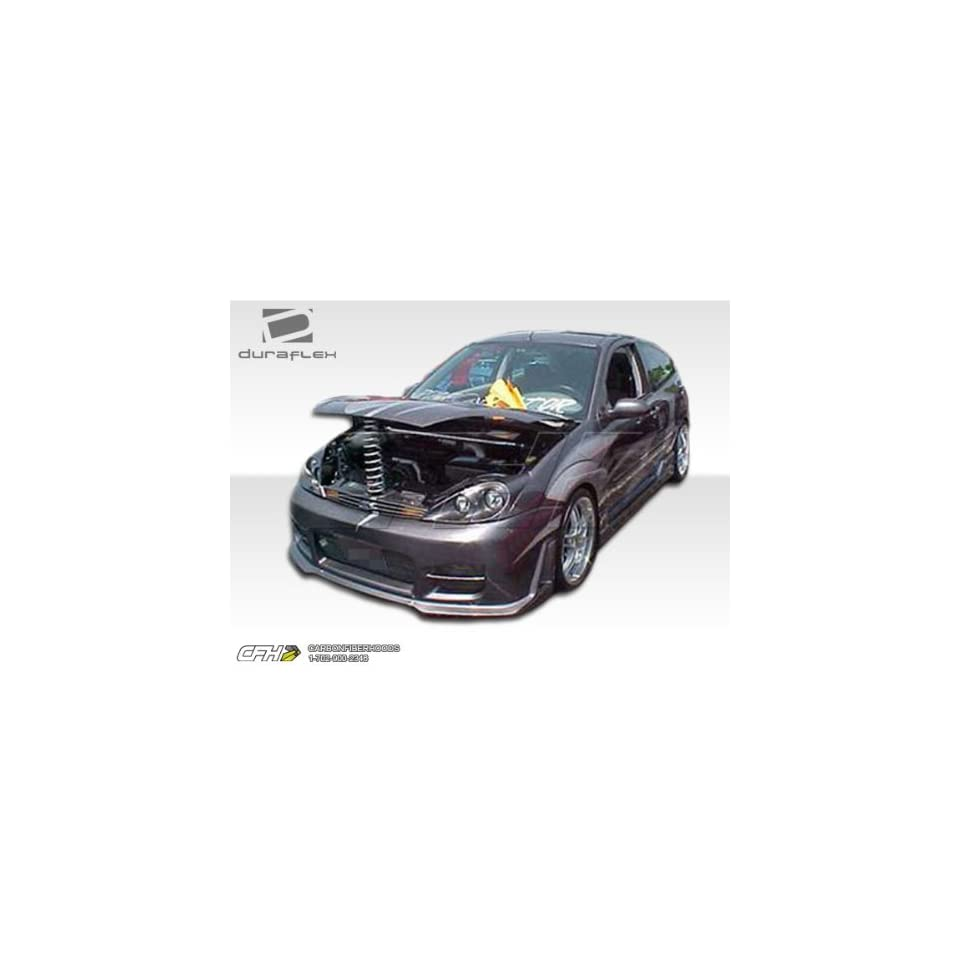 2000 2004 Ford Focus ZX3 Duraflex R34 Kit Includes R34 Front Bumper (100043), Evo 3 Rear Bumper (100052), and Evo 3 Sideskirts (100051).