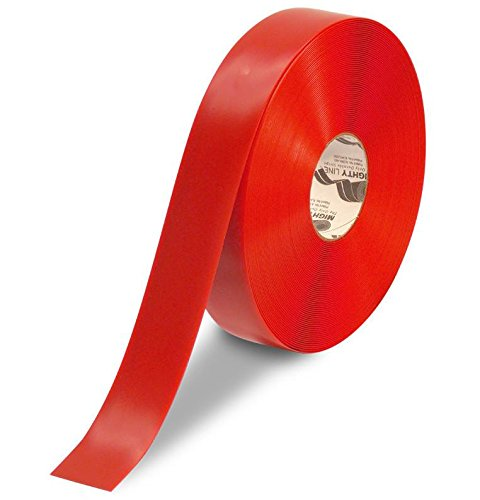 Marking Red Tape Aisle (Mighty Line Floor Tape 2 inch Red 100' Roll)
