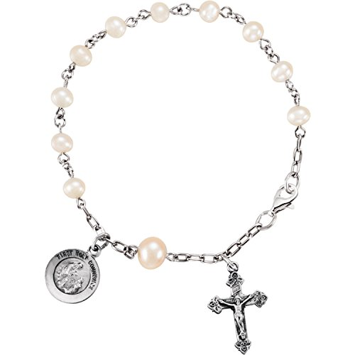 Roy Rose Jewelry Sterling Silver First H - Cultured Pearl Rosary Bracelet Shopping Results