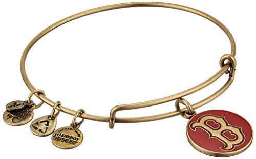 Alex and Ani Boston Red Sox Cap Logo Red Expandable Rafaelian Gold Bangle - Gold Mlb Bracelet